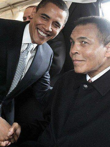 President Barack Obama and Muhammad Ali
